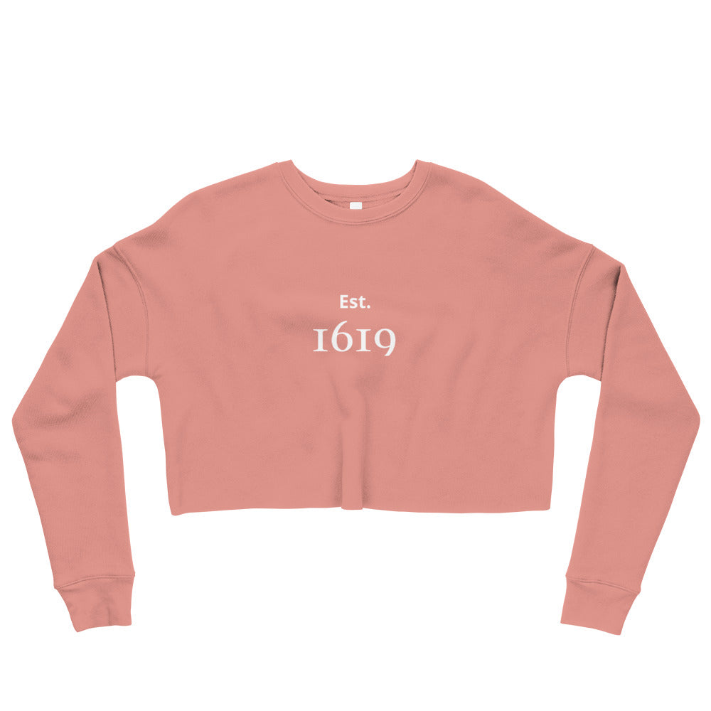 ESTABLISHED 1619 CROP SWEATSHIRT