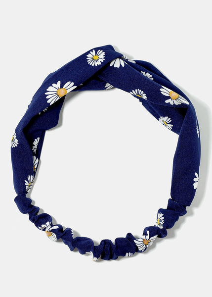 Flower Print Twisted Headband