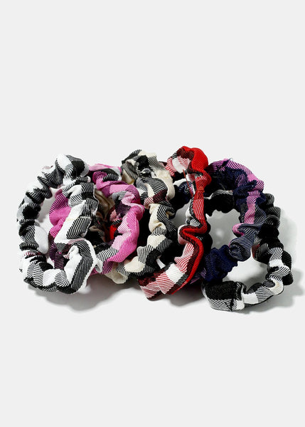 6-Piece Plaid Hair Ties