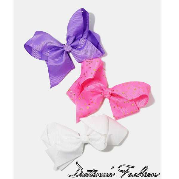 3 Piece Large Hair Bow Set