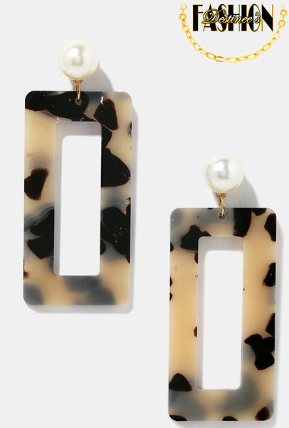 """Cream"" Earrings"