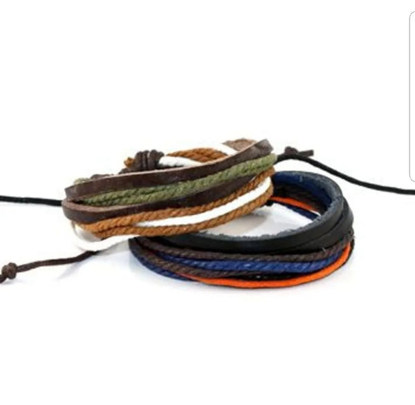 Leather Cord String Bracelet