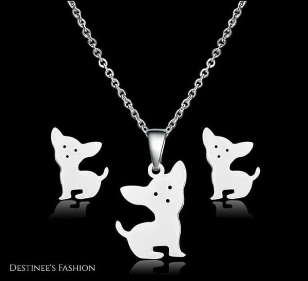 Puppy Stainless Steel Necklace