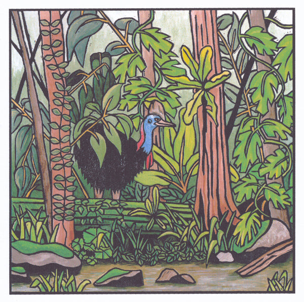 Lyn Randall - Rainforest 1 - Cassowary