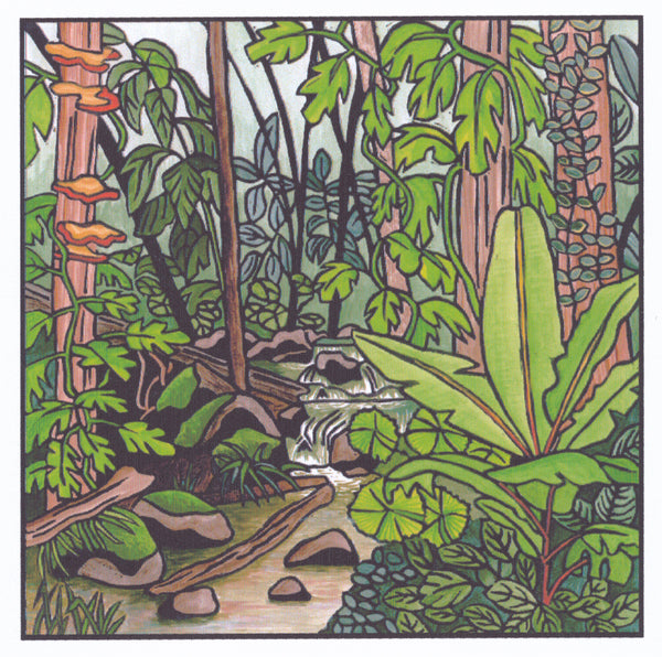 Lyn Randall - Rainforest 2 - Waterfall