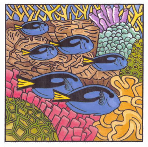 Lyn Randall - Reef 3 - Blue Tangs