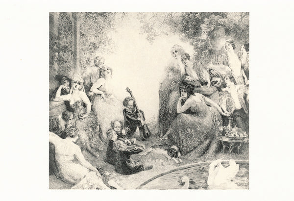 Norman Lindsay - Etching - A Summer Day Andante
