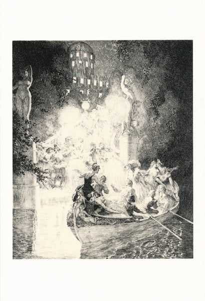 Norman Lindsay - Etching - Night's Frolic