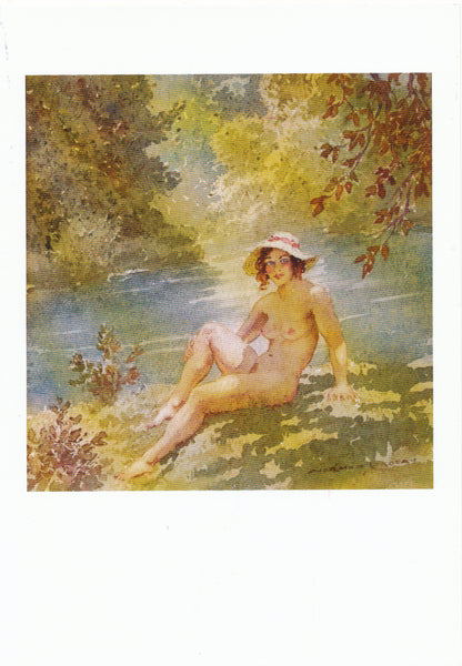 Norman Lindsay - Watercolour - Bather