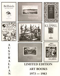 Australian Limited Edition Art Books 1973-1983