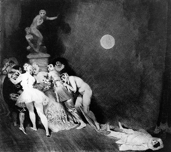 Norman Lindsay - Death of Pierrot