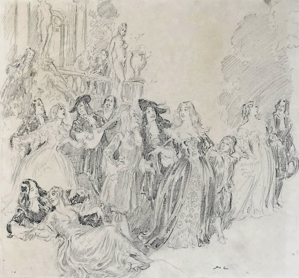 Norman Lindsay - The Idlers - Study for the watercolour
