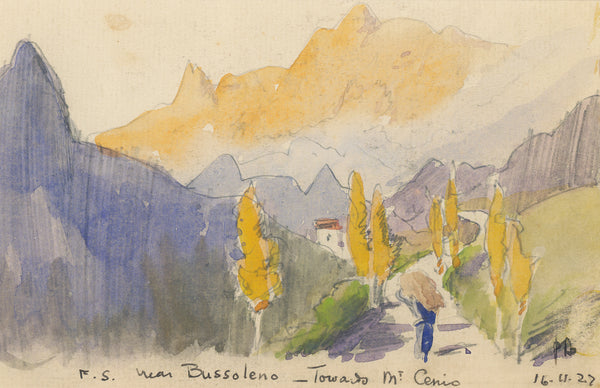 Peter Bousfield - Italy - Near Bussoleno towards Mt Cenio