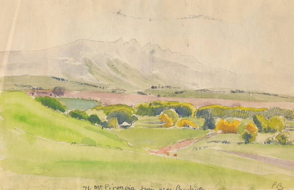 Peter Bousfield - New Zealand - Mt Pirongia from near Cambridge