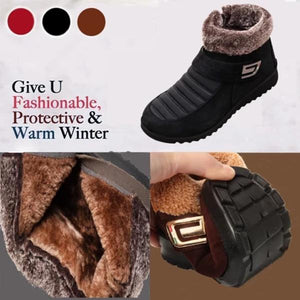 Winter Warm Low Heel Snow Boots