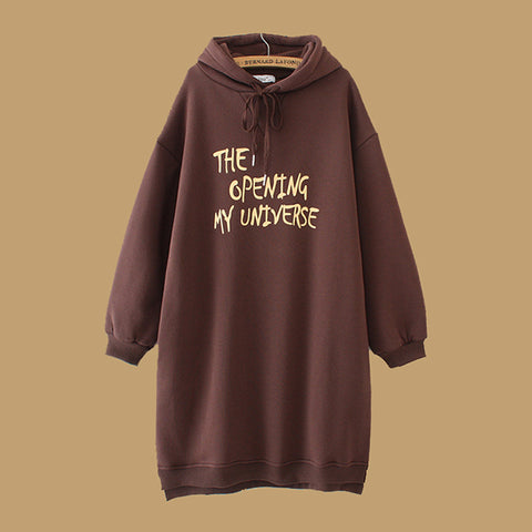 Casual Letter Printed Plus Size Hoodies
