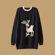 Casual Fawn Round Neck Sweaters