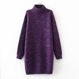 Women High Neck Long Sleeve Sweaters
