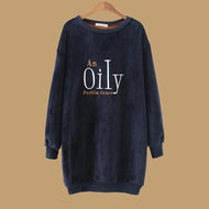 Fashion Women's O-Neck Printed Hoodies