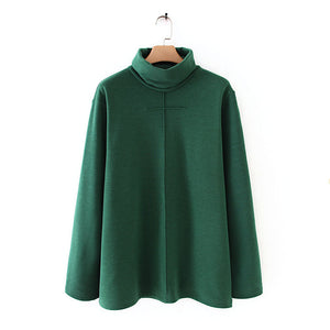 Women High Neck Winter Casual Blouses