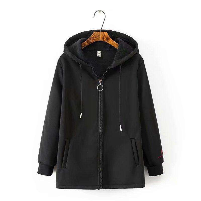Casual Autumn Winter Zipper Pockets Outerwear
