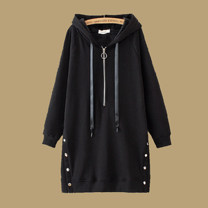 Women Casual Zipper Design Buttoned Hoodies
