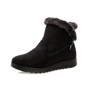 Casual Fashion Flat Warm Woman Snow Boots