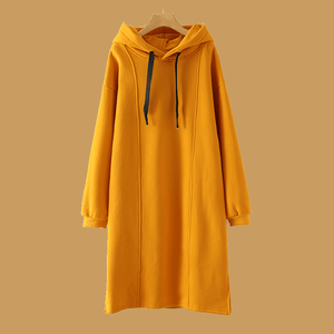 Casual Patchwork Loose Plain Women Hoodies
