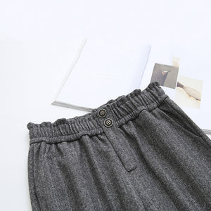 Daily Elastic Band Pockets Casual Pants