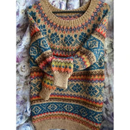 Plus Size Print Knitted Boho Tribal Sweaters