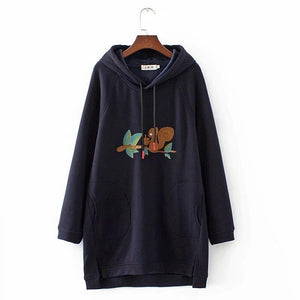 Casual Women's Pockets Pullover Hoodies