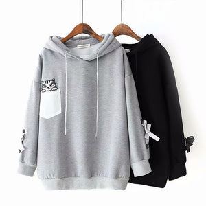 Loose Fashion Long Sleeve Hoodies