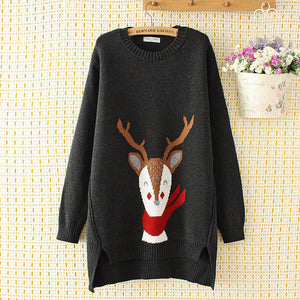 Winter Warm Plus Size Printed Sweaters