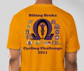 PRE-SALE - Biking Bruhz Challenge T-Shirt (Gold)