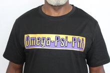 "Load image into Gallery viewer, Tee Shirt - Purple and Gold Embossed - ""NEW ITEM"""