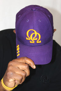 Cap - Purple w/Gold  Interlocking Omegas