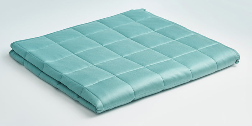 Folded YNM Green Weighted Blanket