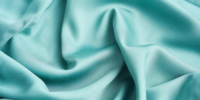 Green Weighted Blanket Fabric Close-Up
