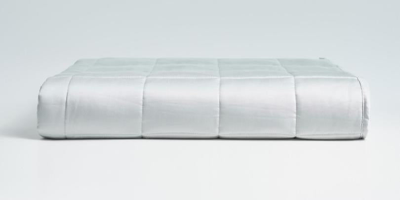 Light Gray Weighted Blanket Folded