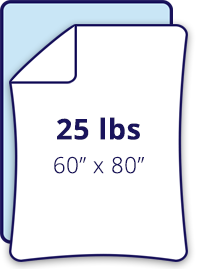 60-inch by 80-inch 25 lbs weighted blanket on full size bed