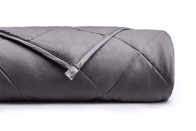 Rolled Up YNM Dark Grey Original Weighted Blanket