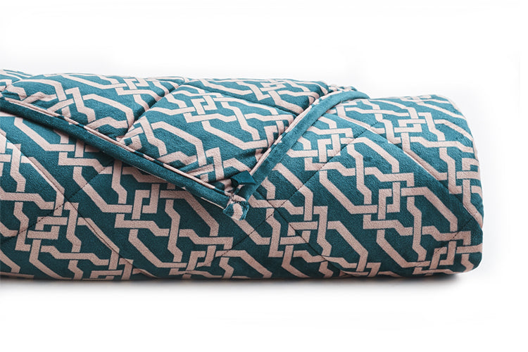Rolled Up YNM Infinite Minky Weighted Blanket