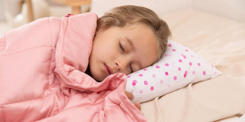 Young Girl Under Pink YNM Weighted Blanket