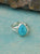 Larimar Solid 925 Sterling Silver Teardrop Split Shank Ring - YoTreasure