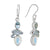 Rough Blue Topaz Moonstone Solid 925 Sterling Silver Dangle Earrings Jewelry - YoTreasure