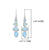 Larimar Rough Blue Topaz Solid 925 Sterling Silver Dangle Earrings Jewelry - YoTreasure
