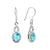 Larimar Solid 925 Sterling Silver Knot Dangle Earrings Jewelry - YoTreasure