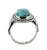 Blue Copper Turquoise Solid 925 Sterling Silver Ring Jewelry - YoTreasure