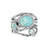 Natural Larimar Blue Topaz Solid 925 Sterling Silver Designer Bypass Ring Jewelry - YoTreasure