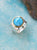Natural Larimar Solid 925 Sterling Silver Brass Hammered Ring Jewelry - YoTreasure